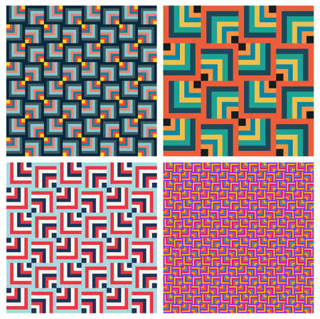 Seamless pattern. Set of rhombus modern stylish texture. Repeating colored square abstract background. Vector illustration isolated on white background