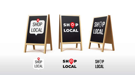 Stand sign board. Shop local.