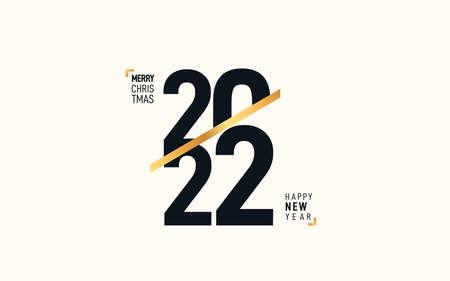 Trendy design 2022 Happy New Year design 向量圖像