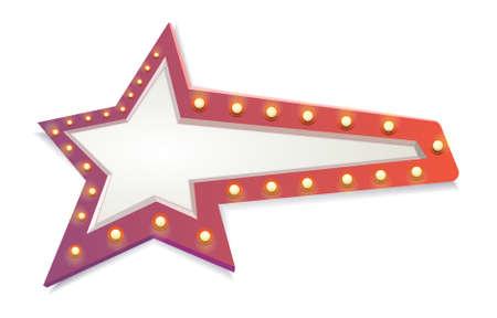 semaforo rosso: Estratto rosso stella, lampadine
