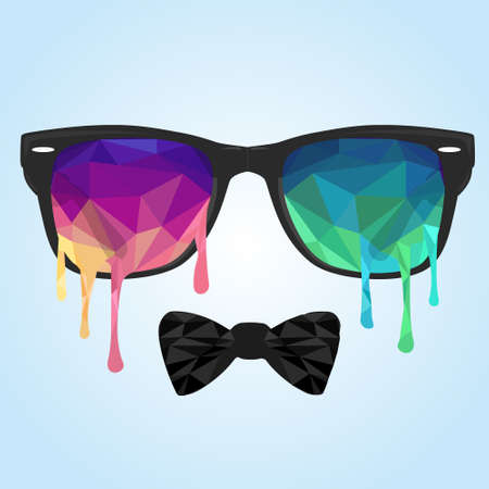 streaks: Abstract vector Illustration, low poly style. Glass polygon, streaks polygon