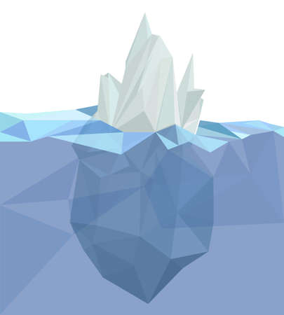 iceberg: Polygonal iceberg, glacier landscape, polygonal sea, white blue color
