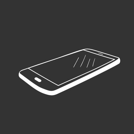Hand drawn sketch of mobile phone, mockups