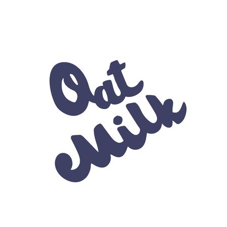 Oat milk hand drawn vector lettering