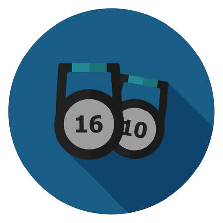 Weight icon. Illustration in flat style. Round icon with long shadow. 일러스트
