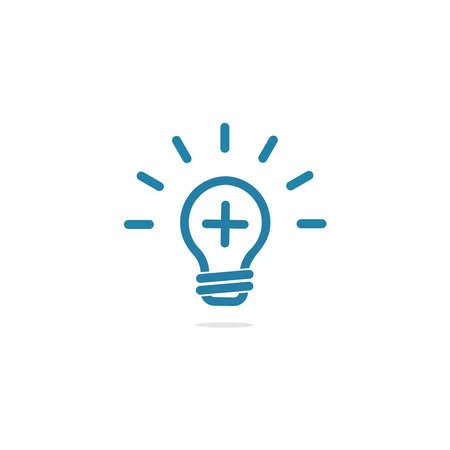 logo positive light or lamp icon design Logo