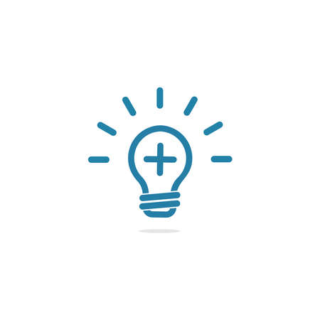 conception d'icône de lumière ou de lampe positive de logo Logo