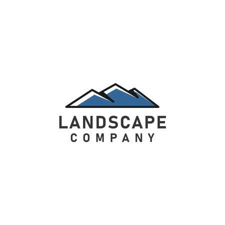 Landscape Hills or  Mountain Peaks Vector logo design