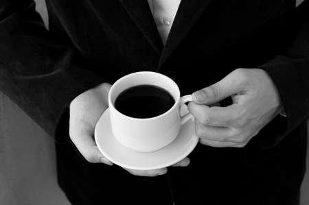 break: Businessman having a coffee break Stock Photo