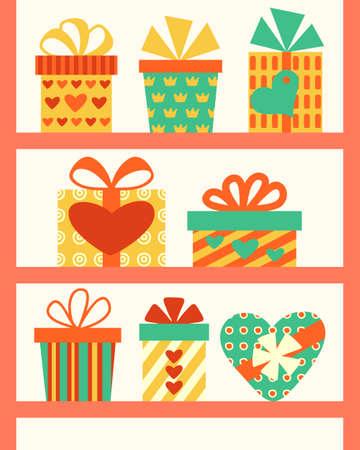 Gift Boxes set illustration