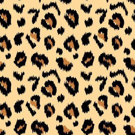 Leopard print. Abstract vector seamless pattern texture