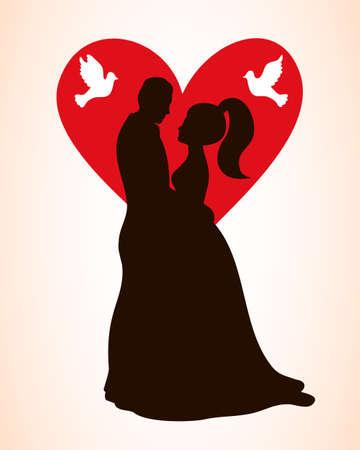 Wedding Invitation Card. Valentines Day Romantic Vintage Background