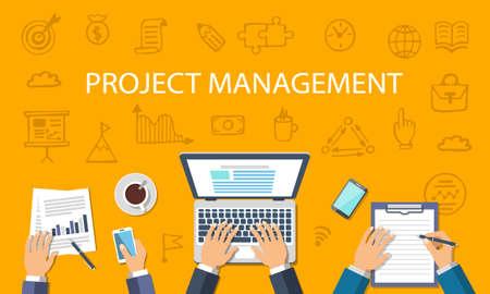 Project Management Concept Çizim