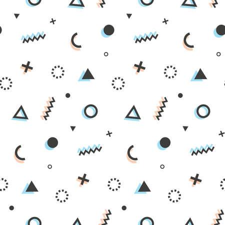 Geometric seamless pattern background. Memphis art