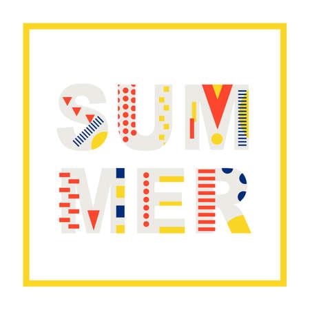 Summer modern banner design element Çizim