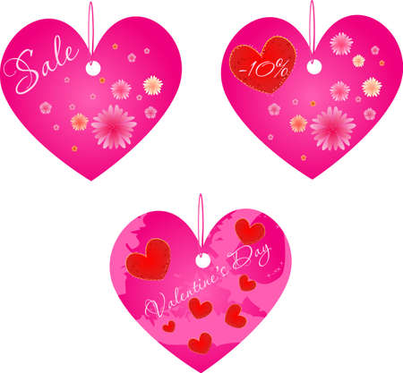 Set of three valentine's day and spring sale shop labels.Other valentine's day design in my portfolio. Stock Vector - 4171995