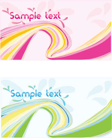 businees: Vector two abstract web 2.0 banner, business card. Illustration