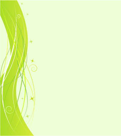 adress: Green design template with swirl wave ornament Illustration