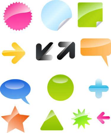 tooltip: Set of web elements for your designs Illustration