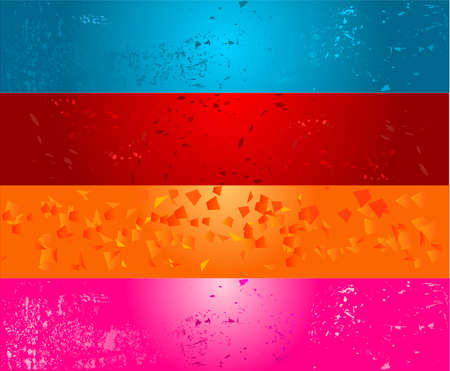 Colorful grunge bright banners Vector