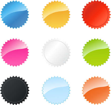 Multicolored star badges set for your websites