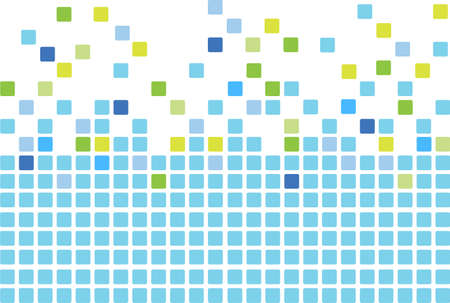 Simple mosaic tiles background in blue color Vector