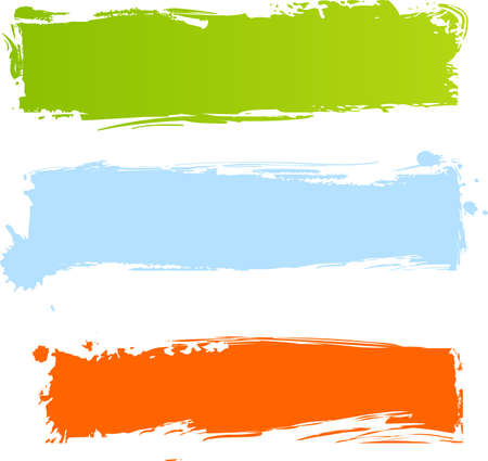 Multicolored grunge banners in three colors Stock Vector - 5446690