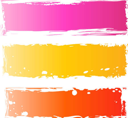 Three pretty grunge lines. Using for banners, grunge brushes, etc. Vector