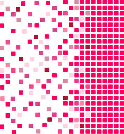 Simple vector mosaic background in coral pink color Vector