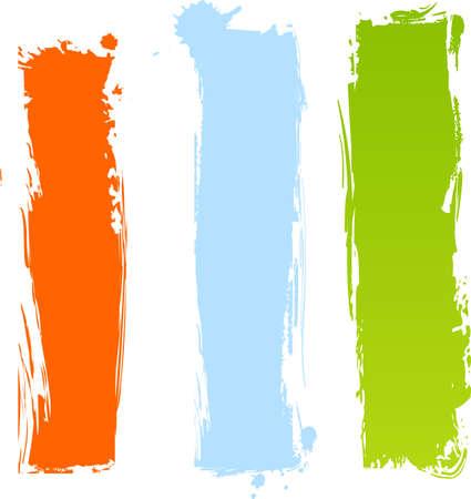 Vertical: Banderas multicolores grunge vertical en tres colores Vectores