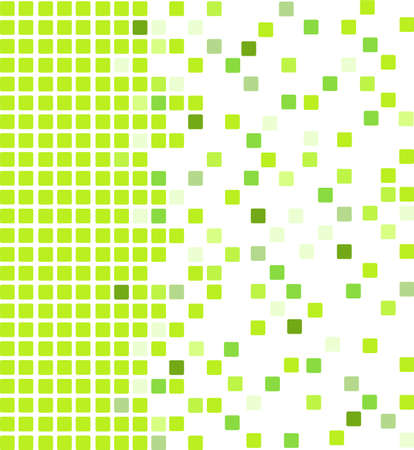 Simple vector mosaic background in green color Illustration