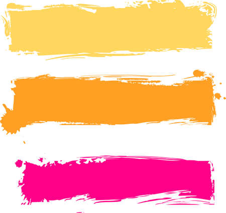 Multicolored grunge banners in three colors Illustration