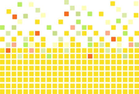 mosaic tiles: Simple mosaic tiles background in yellow color
