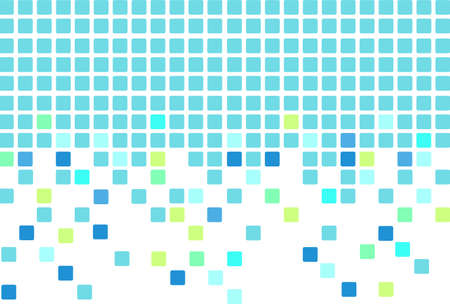 color separation: Simple mosaic tiles background in blue color