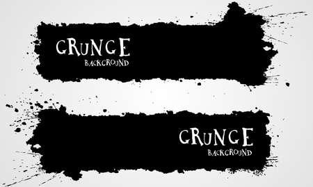 Grunge banner backgrounds in black color Illustration