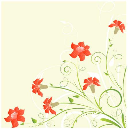 밝은 꽃과 함께 꽃 코너 배경