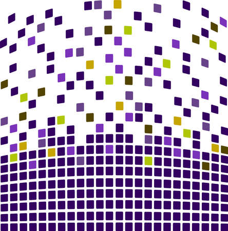 color separation: Simple mosaic background in purple color Illustration
