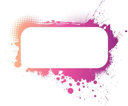 보라색, 분홍색과 노란색 색상의 다채로운 그런 지 프레임