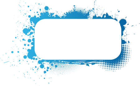 Colorful grunge frame in blue colors