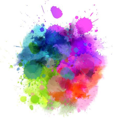 Acquerello multicolore spruzzi macchia Archivio Fotografico - 26625945