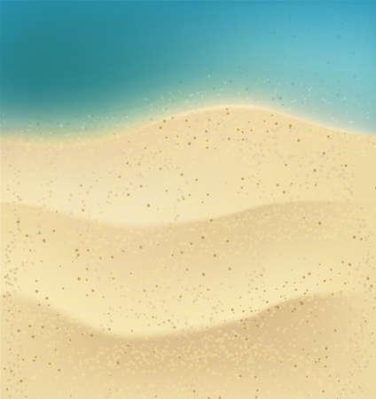 sand art: Summer beach background - edge of sea and sand
