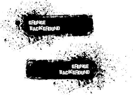 graffiti background: Grunge banner backgrounds in black color Illustration
