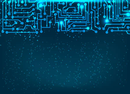 electrical part: Abstract blue background with circuit board elements