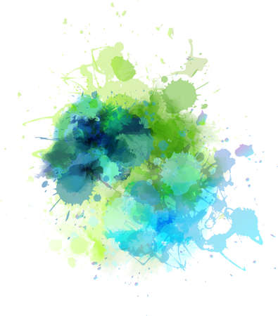 watercolor splash: Multicolored watercolor splash blot