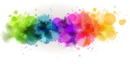 Background with multicolored watercolor line Vector