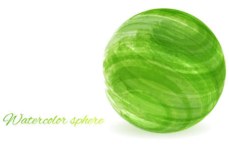 Abstract watercolor imitation green sphere - conceptual abstract background Stock Vector - 29221768