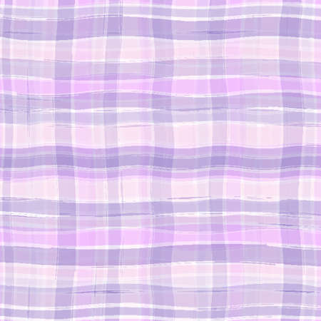 checked: Wavy plaid texture in purple and pink colors Illustration