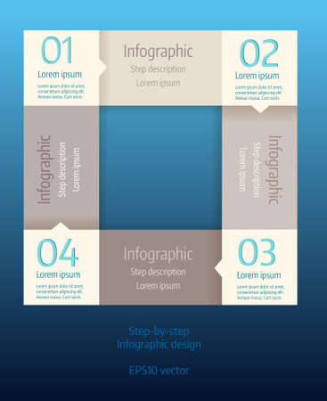 communications equipment: Step infographic modern business background template.