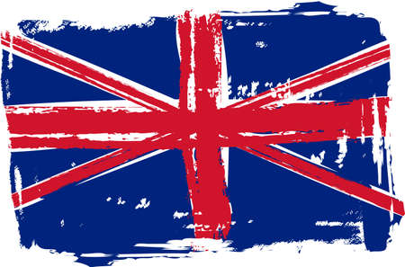 Grunge flag of the United Kingdom for your design Stock Vector - 30028909