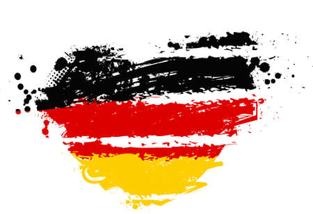 Grunge flag of Germany in heart shape Vector